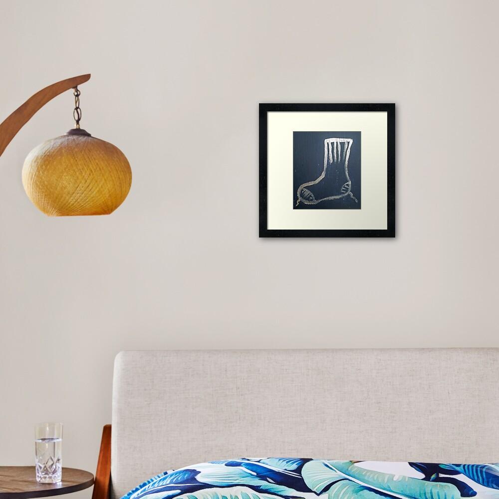 Sock Framed Art Print