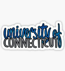 University of Connecticut Two Tone Sticker
