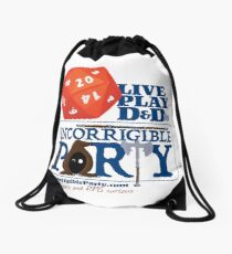 The Incorrigible Party rolls 20s Drawstring Bag