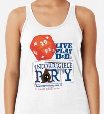 The Incorrigible Party rolls 20s Racerback Tank Top