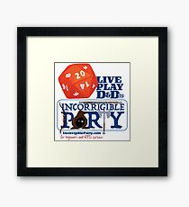The Incorrigible Party rolls 20s Framed Print