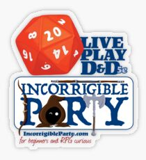The Incorrigible Party rolls 20s Transparent Sticker