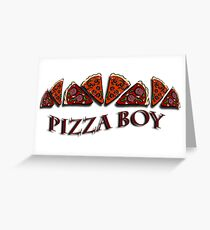 Pizza Boy Greeting Card