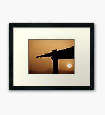 Red Sea Sunset, Jordan Framed Print