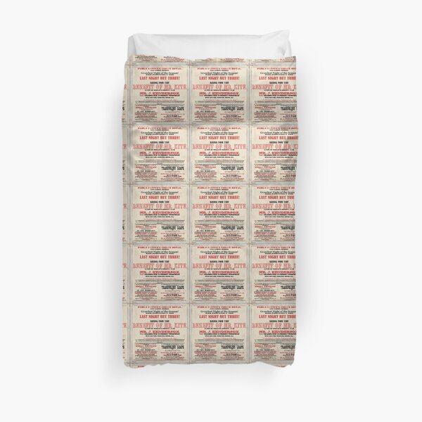Victorian Circus Poster Duvet Cover