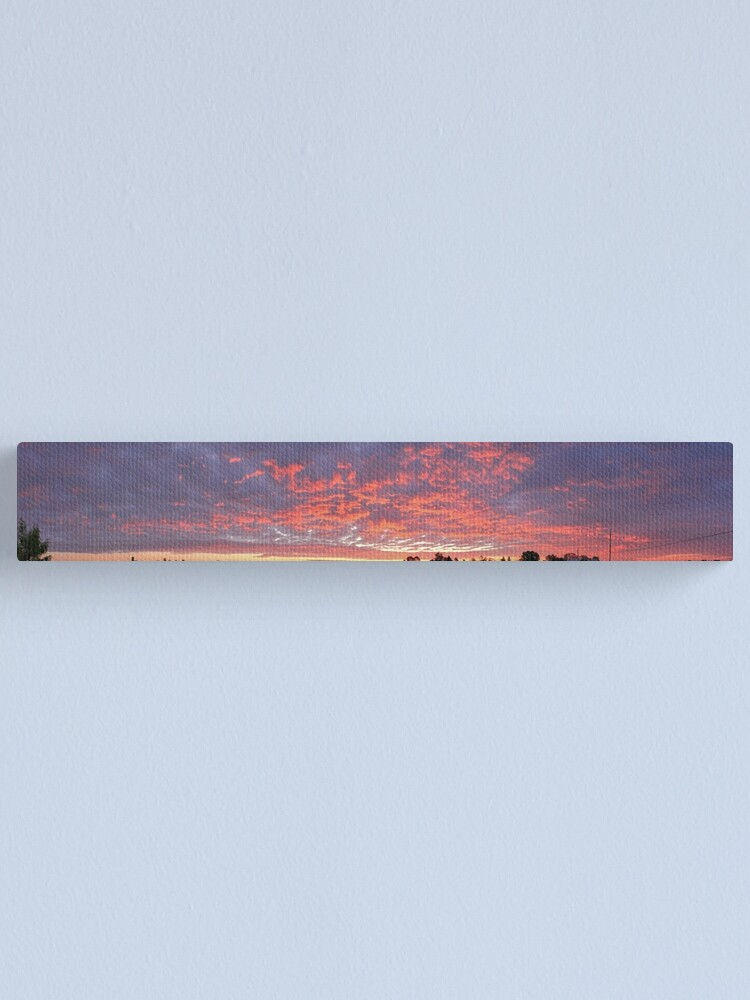 Alternate view of Sunrise Over Farm Fields  Canvas Print