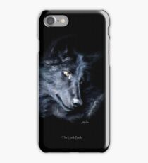 """The Look Back"" Timber Wolf Portrait iPhone Case/Skin"