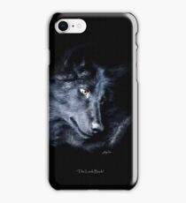 """""""The Look Back"""" Timber Wolf Portrait iPhone Case/Skin"""