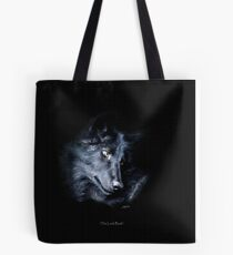 """""""The Look Back"""" Timber Wolf Portrait Tote Bag"""