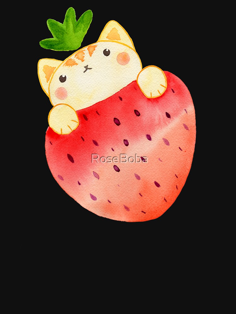 Strawberry Cat by RoseBoba