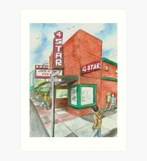 """4-Star Theatre"" by Robin Galante Art Print"