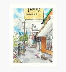 Neighborhood Portrait: Balboa between 35th & 36th Aves Art Print