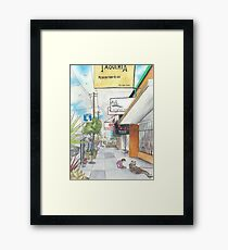 Neighborhood Portrait: Balboa between 35th & 36th Aves Framed Print