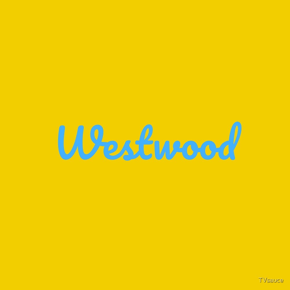Westwood cursive (blue) by TVsauce