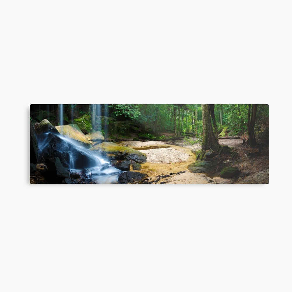 Oakland Falls, Hazelbrook, New South Wales, Australia Metal Print