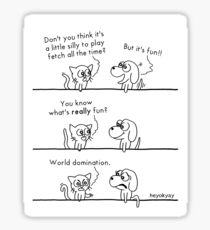 Cats and Dogs: The Little Differences Sticker