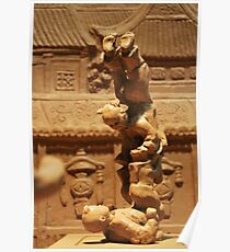 Clay Sculpture - Acrobat Children Poster