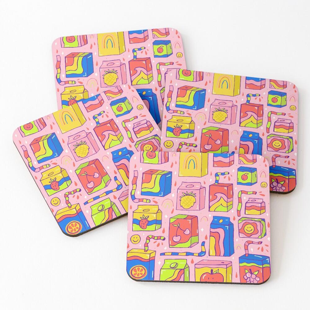 Juice Box Print Coasters (Set of 4)