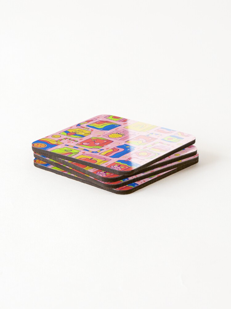 Alternate view of Juice Box Print Coasters (Set of 4)