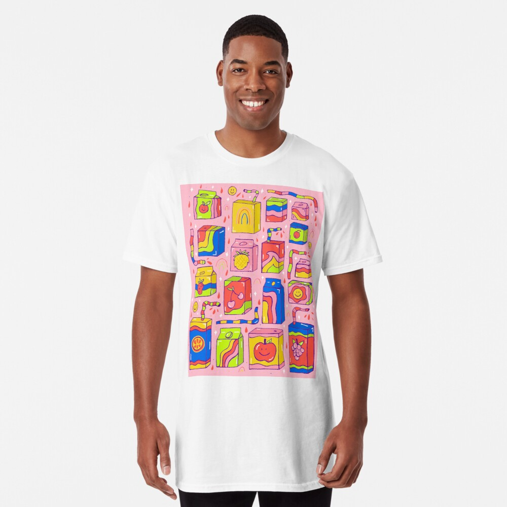 Juice Box Print Long T-Shirt