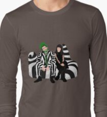Beetlejuice and Lydia- Beetlejuice the Musical Long Sleeve T-Shirt
