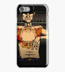 Character from the 'Burnt Out by the Light' video iPhone Case/Skin