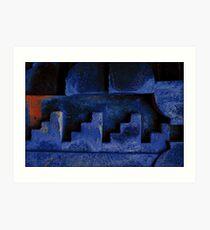 Blue Urban Abstract-704  Art Print