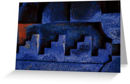 Blue Urban Abstract-704  by Albert Sulzer