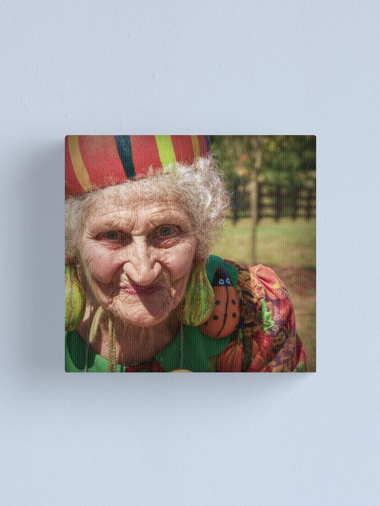 Alternate view of The Gourd Lady Canvas Print