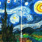 Van Gogh's Starry Night  by iwantajuicer