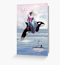 Hitching A Ride Greeting Card