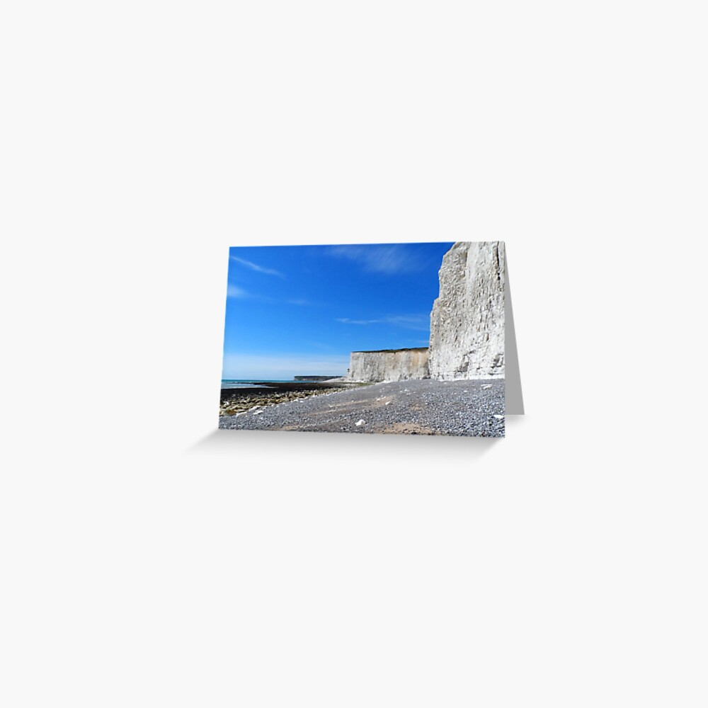 Chalk Cliffs at Eastbourne Greeting Card