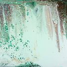 Before the Waterfall: fluid art; acrylic pour painting by kerravonsen