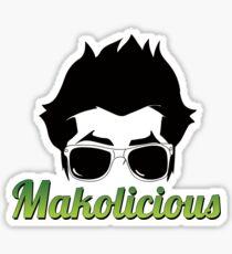 Makolicious (White) Sticker