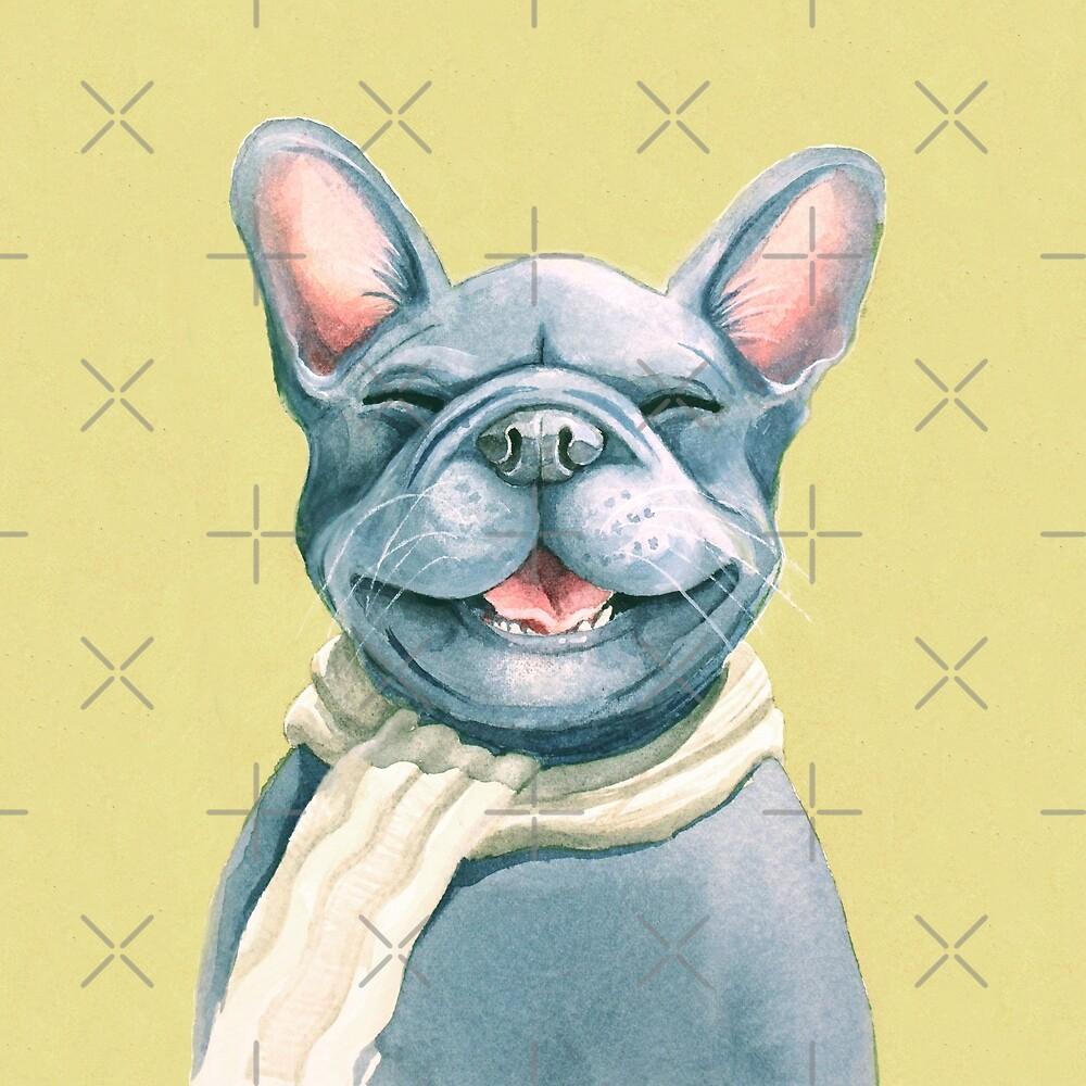 Blue Frenchy by Sarah  Mac Illustration