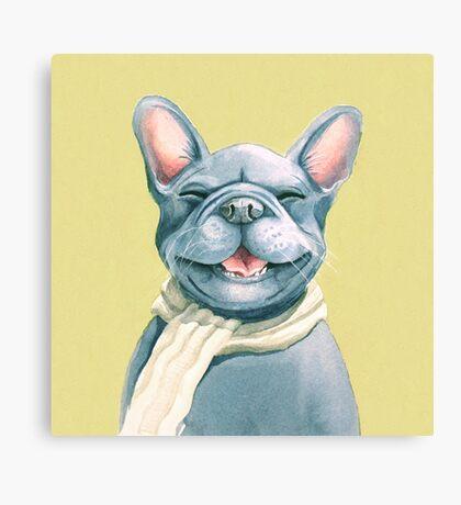 Blue Frenchy Canvas Print
