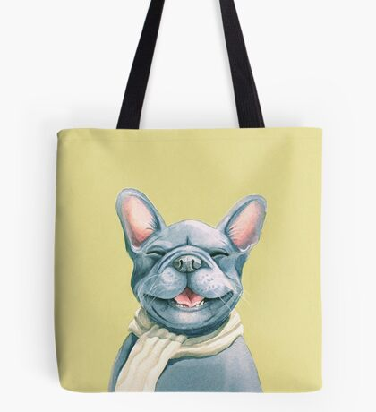 Blue Frenchy Tote Bag