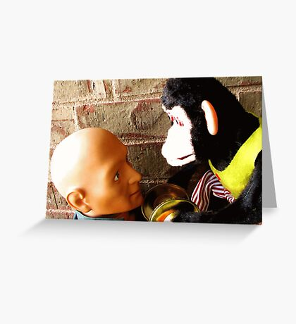dead-staring contest Greeting Card