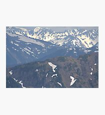 Olympic Mountains Photographic Print