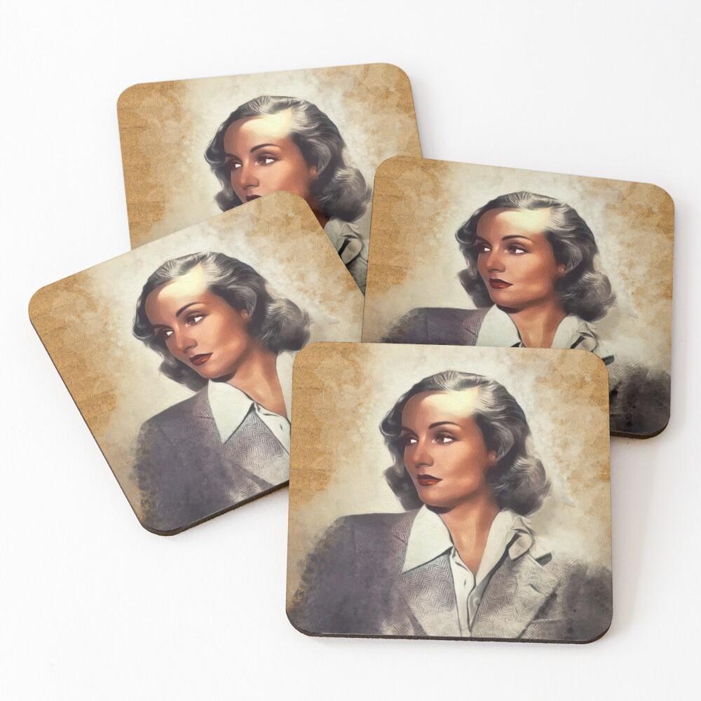 Carole Lombard, Vintage Actress Coasters (Set of 4)