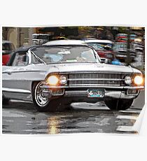 Cruisin' Cadillac Style Poster