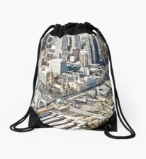 Melbourne in detail Drawstring Bag