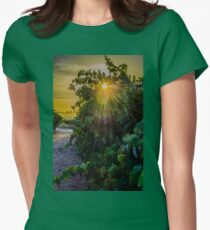 Vine Flare Womens Fitted T-Shirt