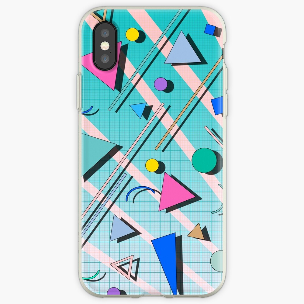 80s pop retro pattern 4 iPhone Cases & Covers