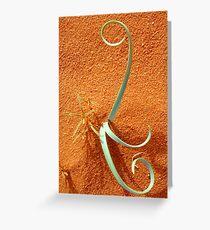 desert ideogram Greeting Card