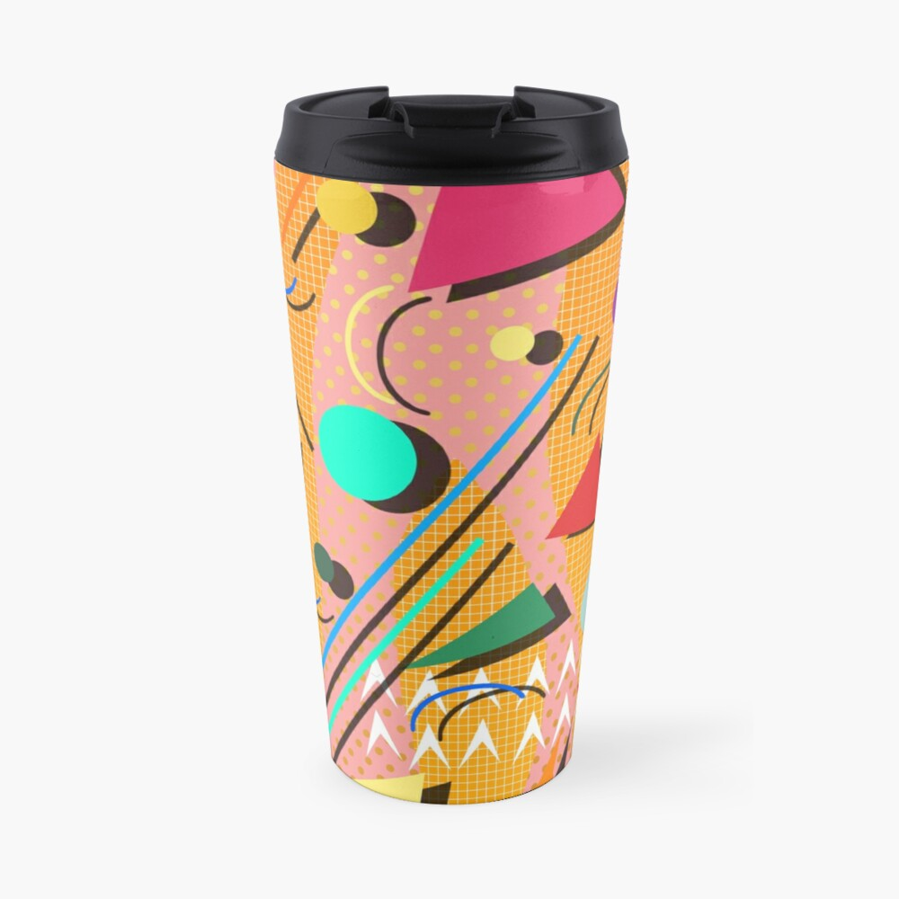 80s pop retro pattern Travel Mug