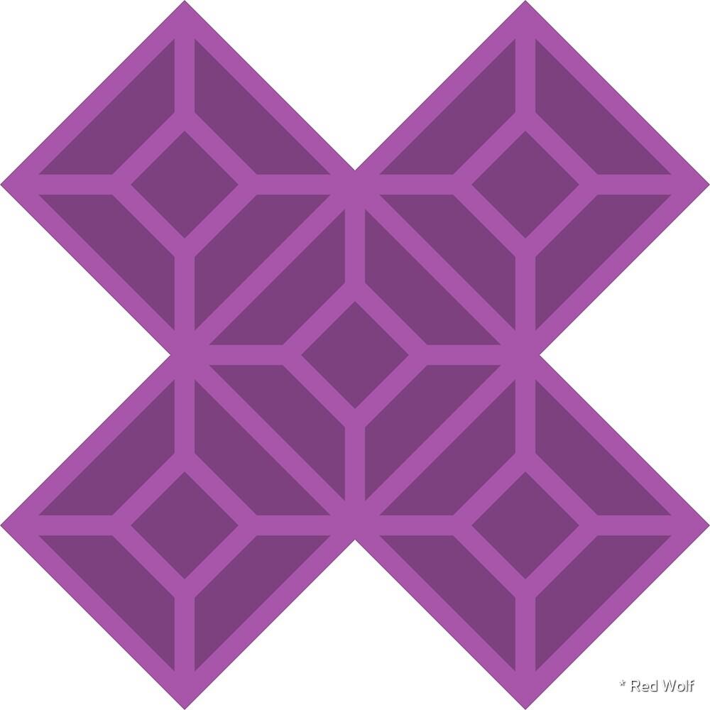 Geometric Pattern: Diamond Tile: Dark Purple by * Red Wolf