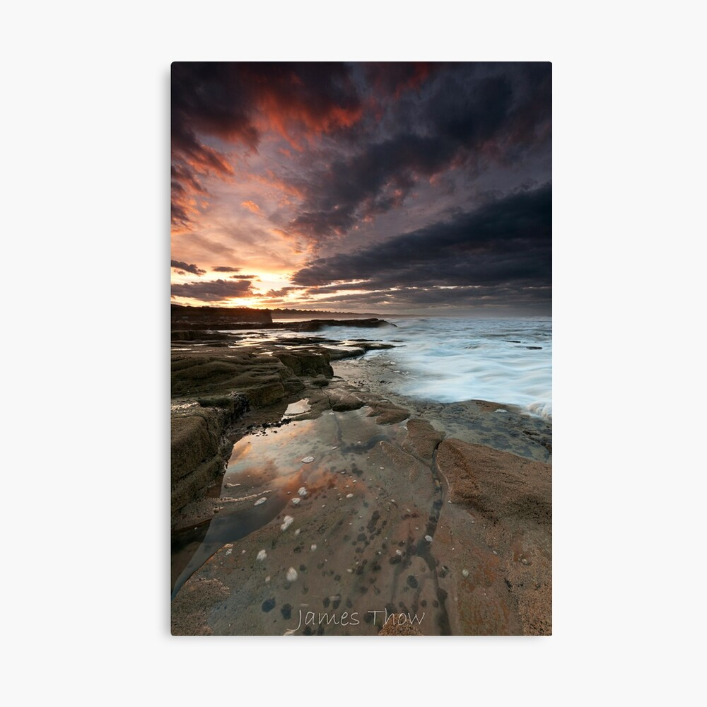 Sluice sunset Canvas Print