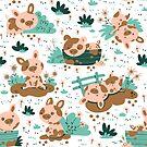 Cute Little Piglet by Angela Sbandelli