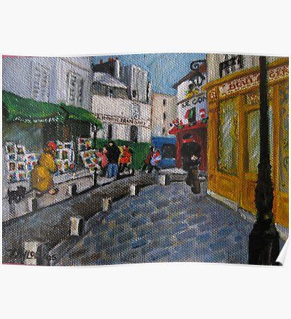 Sur la Butte Montmartre Poster